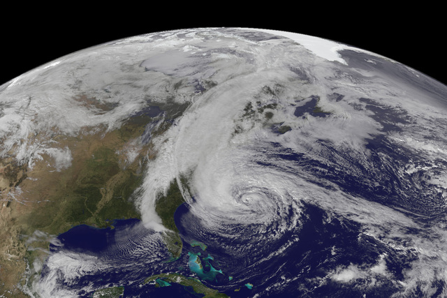 Storm Barrels Toward Northeast On 5-Year Sandy Anniversary