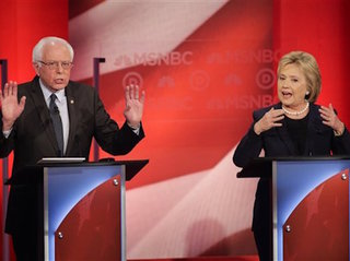 Clinton fires back at Sanders during debate