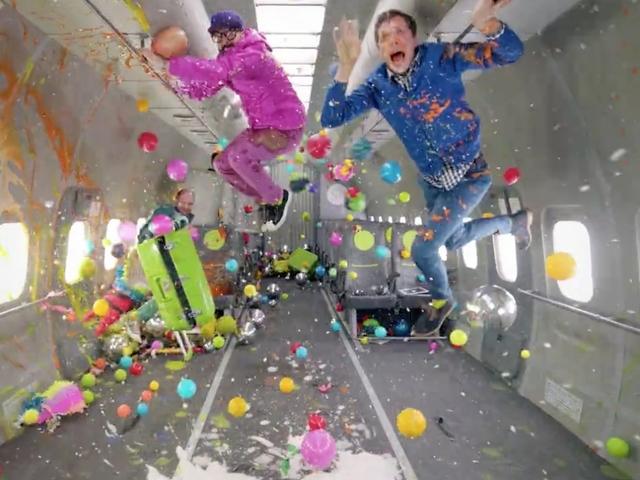 OK Go films new music video in zero gravity