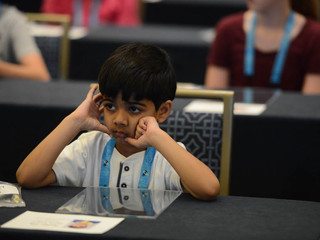 Spelling Bee competitor, age 6, not intimidated