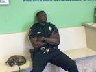 Florida officer tends to abandoned puppy