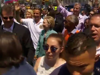 Video: Hillary Clinton attends NYC pride parade