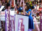 Michelle Obama discusses daughters in DNC speech