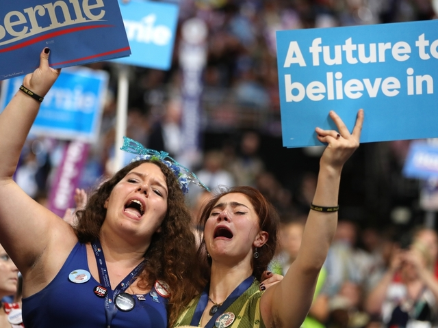 History and hostility as Hillary Clinton ascends to historic nomination
