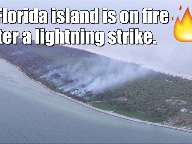 Wildfire on Florida's Egmont Key