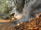 Hotter weather expected near California blaze