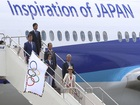 Olympic flag arrives in Tokyo