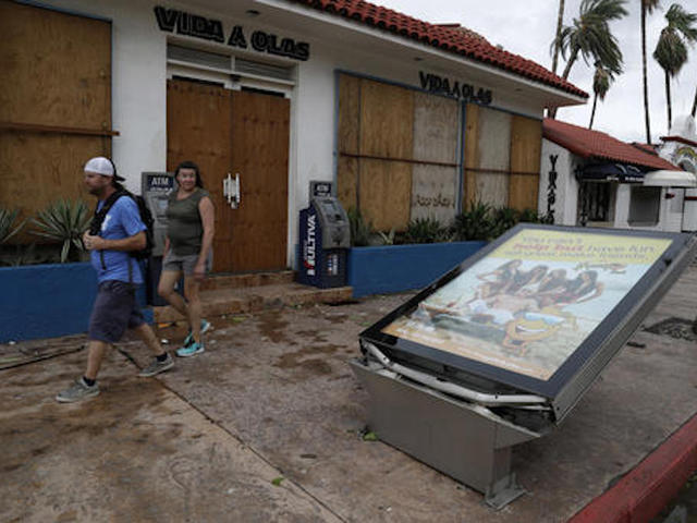 Newton makes landfall in mainland Mexico
