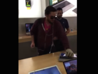 Video: Customer smashes up Apple Store
