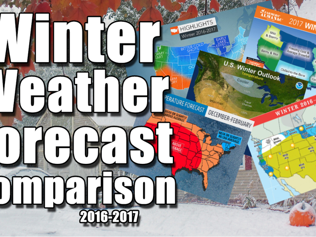 Winter Forecast Comparison: 2016-2017