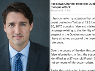 Canadian PM calls out Fox News for tweet