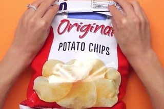 Here's how to seal a bag of chips without a clip