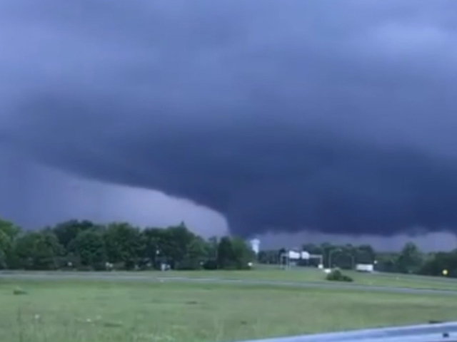 Small tornadoes near Xenia- Ohio