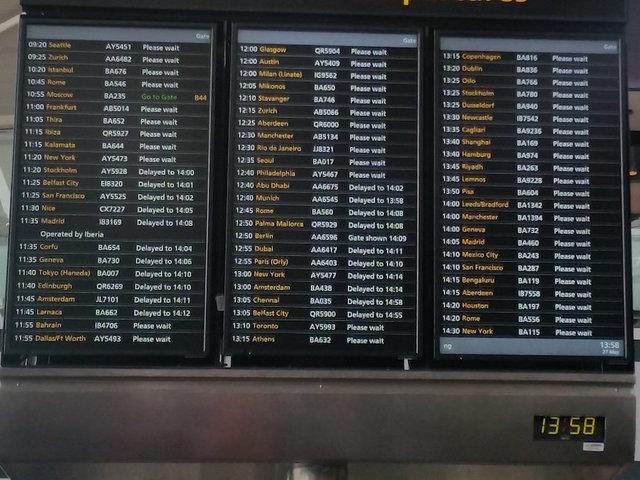 BA cancels all flights from Heathrow, Gatwick