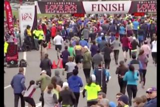 Runners Help Marathon Participant Finish Race