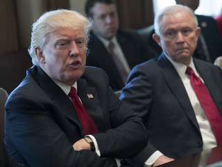 Trump slams AG Sessions on Clinton emails