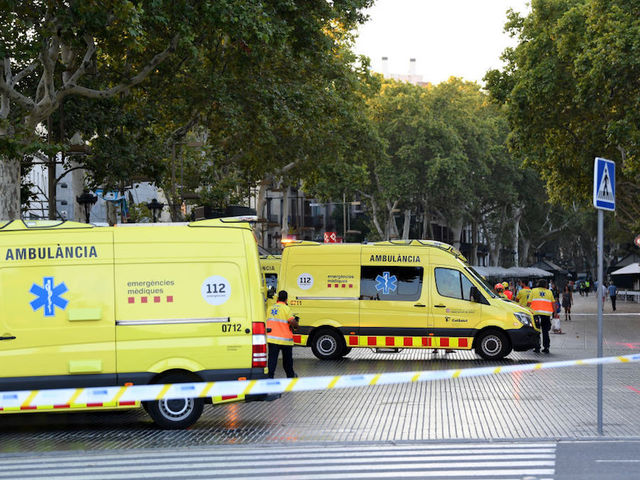 Van runs into pedestrians in Barcelona street; dead and injured reported