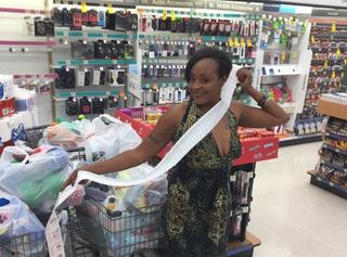 Extreme couponer uses her skills to help