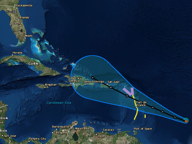 Tropical Storm Maria expected to strengthen into hurricane
