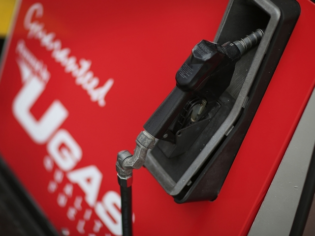 Gas prices fall almost  six cents