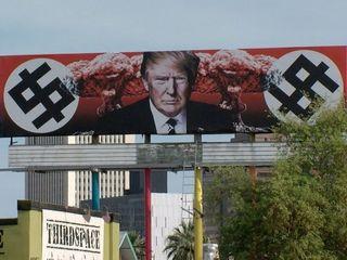 Anti-Trump billboard on display in Phoenix