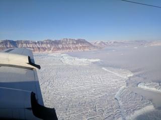 NASA takes photos of crack in Greenland glacier