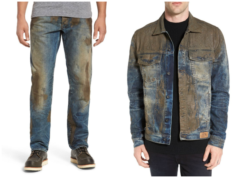 Nordstrom sells jeans, jacket with fake mud on them for $425 each; Critics let loose