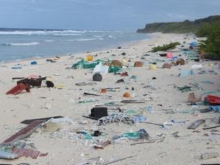 Remote island is buried under plastic trash