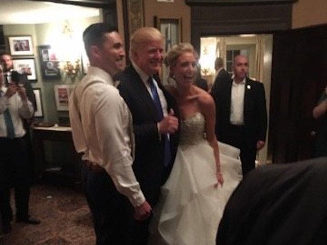 President Trump Crashes New Jersey Wedding Wkbw Buffalo Ny