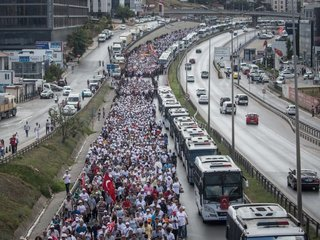 280-mile protest march ends in Istanbul