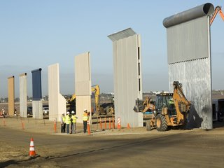 Trump border barrier prototypes unveiled