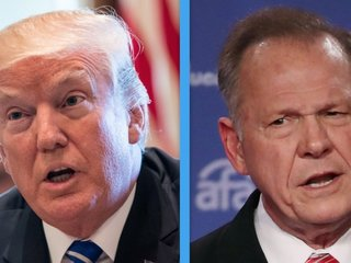 Trump endorses Moore in Senate race in Alabama