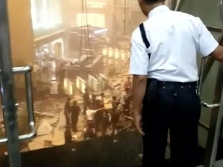 Indonesia Stock Exchange floor collapses