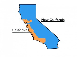Part of California is trying to split from coast