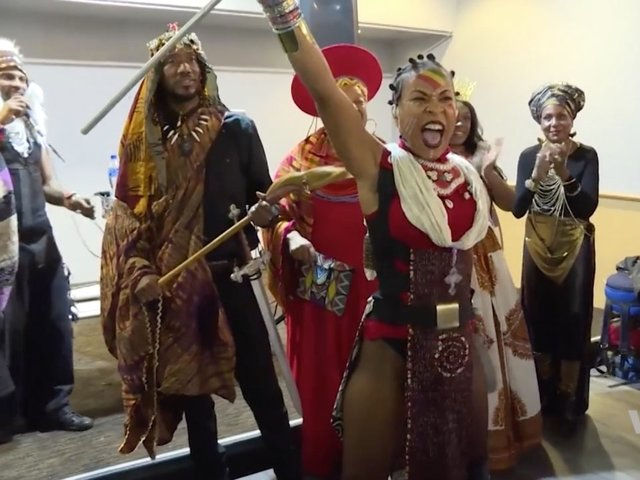 'Black Panther' fans re-create Wakanda