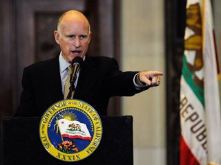 Gov. Jerry Brown Criticizes Trump...