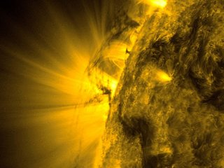 Are there giant tornadoes on the sun?