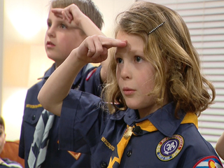 Girls in Boy Scouts? What a meeting is like
