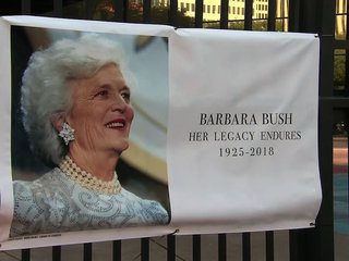 Barbara Bush's funeral draws more than 1,000