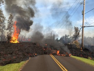 Eruptions in Hawaii spark air quality warnings