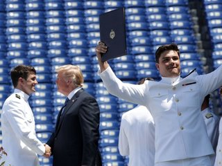 Fact-checking Trump's Naval Academy commencement