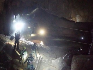 First of 12 boys in Thai cave being rescued