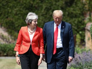 Donald Trump, Theresa May hold joint presser