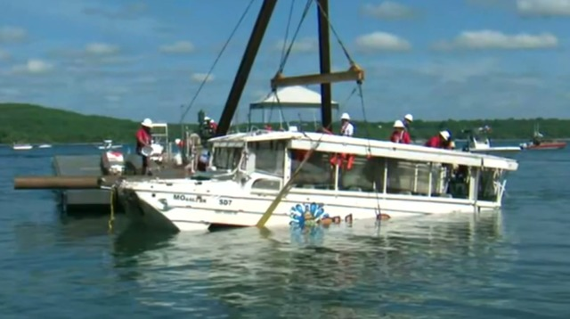 branson residents gather at lake to pay respects as sunken