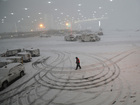 Snowstorm forces students to stay in schools