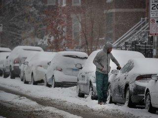 Winter snow storm causes travel problems